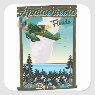 Apalachicola National Forest Florida flight poster Square Sticker