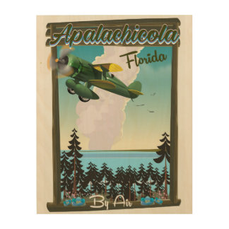 Apalachicola National Forest Florida flight poster Wood Prints