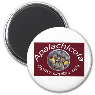 Apalachicola Oyster Capital 2 Inch Round Magnet