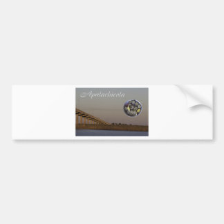 Apalachicola with John Gorrie Bridge and oysters Bumper Sticker