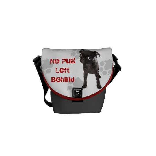APARN No Pug Left Behind Rickshaw Messenger Bag