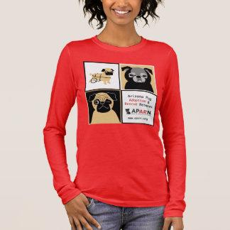 APARN Rescue Pugs Bella Missy 3/4 Sleeve V-Neck Long Sleeve T-Shirt