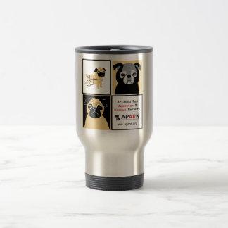 APARN Rescue Pugs Stainless Steel 15 oz Travel Mug