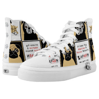 APARN Rescue Pugs Zipz High Top Shoes