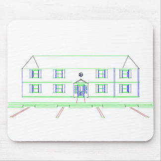 Apartment Building / House: Marker Drawing Mouse Pad