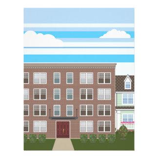 Apartment building personalized letterhead