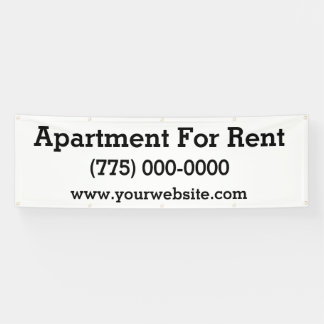 Apartment For Rent 8 Foot Banner