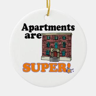apartments are super ceramic ornament