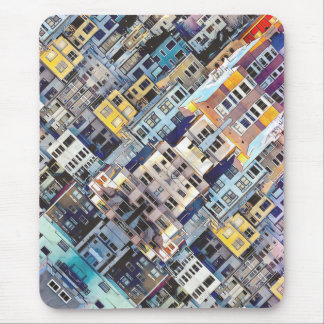 Apartments In The City Mouse Pad