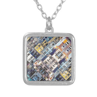 Apartments In The City Silver Plated Necklace