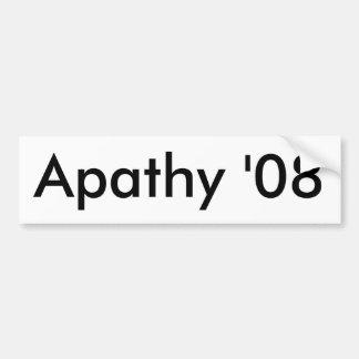 Apathy '08 bumper sticker