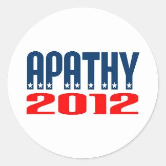 Apathy 2012 round sticker