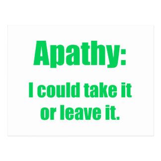 apathy postcard