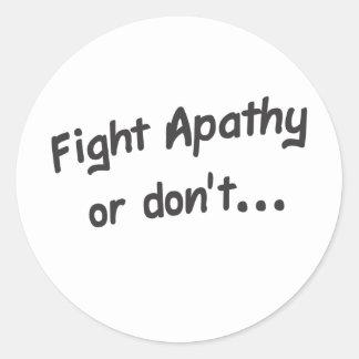 Apathy Round Sticker