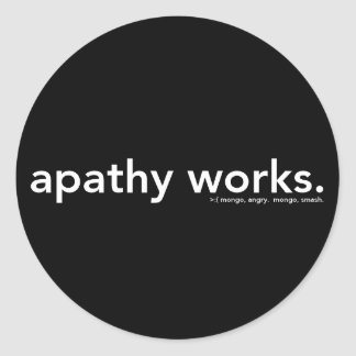 apathy works classic round sticker
