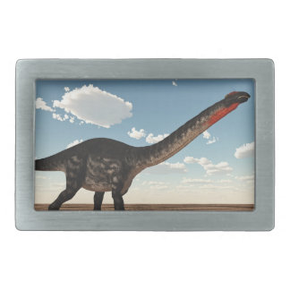 Apatosaurus dinosaur in the desert - 3D render Belt Buckle