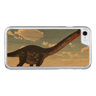 Apatosaurus dinosaur in the desert - 3D render Carved iPhone 8/7 Case
