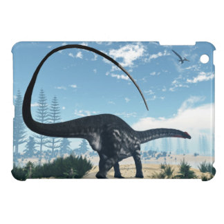 Apatosaurus dinosaur in the desert - 3D render Cover For The iPad Mini