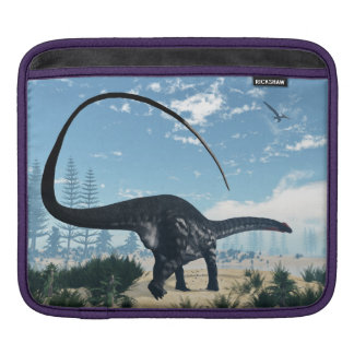 Apatosaurus dinosaur in the desert - 3D render iPad Sleeve