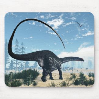 Apatosaurus dinosaur in the desert - 3D render Mouse Pad