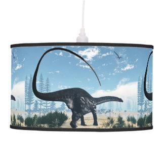 Apatosaurus dinosaur in the desert - 3D render Pendant Lamp