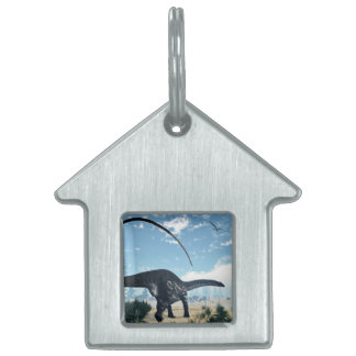 Apatosaurus dinosaur in the desert - 3D render Pet ID Tag