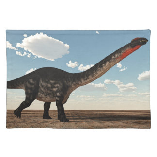 Apatosaurus dinosaur in the desert - 3D render Placemat