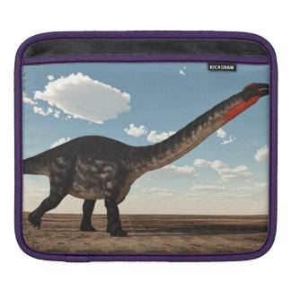 Apatosaurus dinosaur in the desert - 3D render Sleeve For iPads