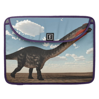 Apatosaurus dinosaur in the desert - 3D render Sleeve For MacBook Pro