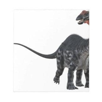 Apatosaurus Dinosaur Looking to the Front Notepad