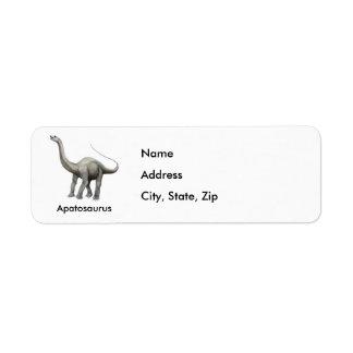 Apatosaurus Return Address Label