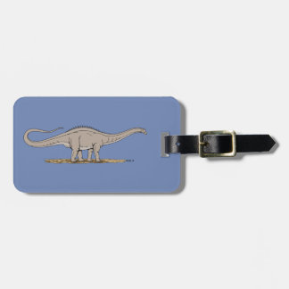 Apatosaurus Luggage Tag