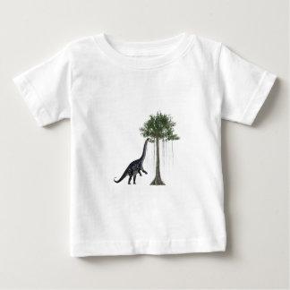 Apatosurus Dinosaur feeding on a Tree Baby T-Shirt