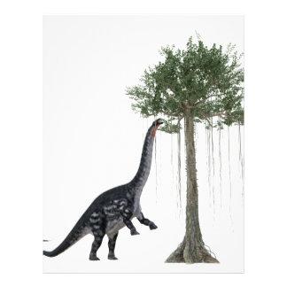 Apatosurus Dinosaur feeding on a Tree Letterhead