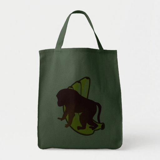 Ape bananas monkey bananas canvas bags