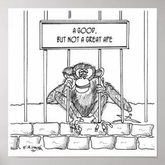 Ape Cartoon 1537 Poster