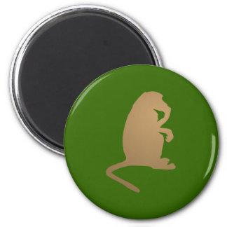 Ape chimpanzee ape chimpanzee 2 inch round magnet