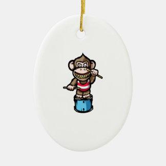 Ape Drum Ceramic Oval Ornament