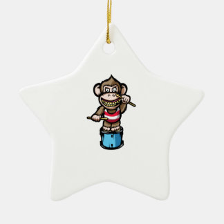 Ape Drum Ceramic Star Ornament