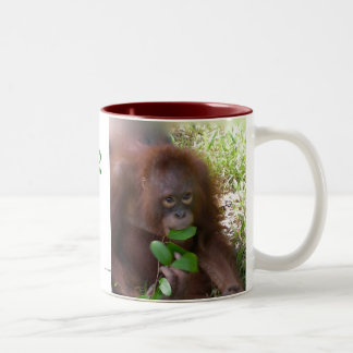 Ape for Green Two-Tone Coffee Mug