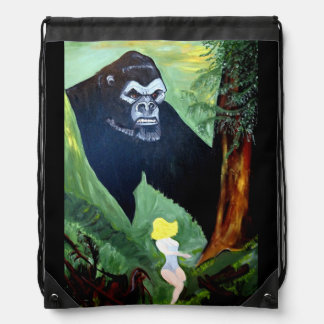 APE IN THE WILD DRAWSTRING BAG