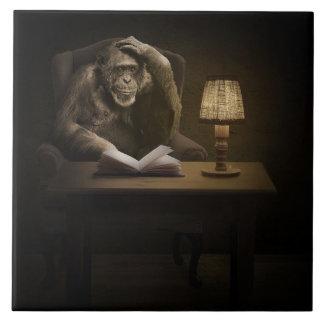 Ape Monkey Book Ceramic Tiles