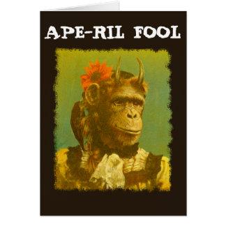 APE-RIL FOOL April Fool's Greetings card