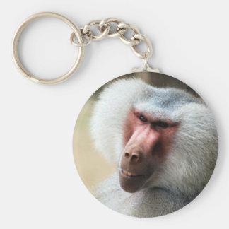 Ape saying howdy keychain