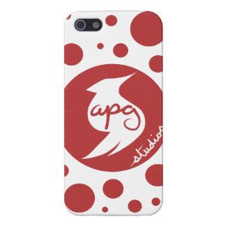 APG Studios Logo Polka Dot Glossy Case Cover For iPhone 5/5S