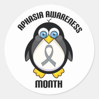 Aphasia Awareness Penguin Ribbon Stickers