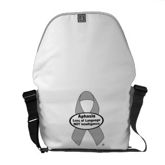 Aphasia Awareness Silver Ribbon Product Messenger Bag