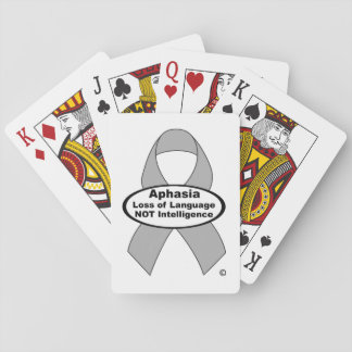 Aphasia Silver Ribbon Playing cards