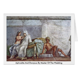 Aphrodite And Dionysus By Master Of The Wedding Card