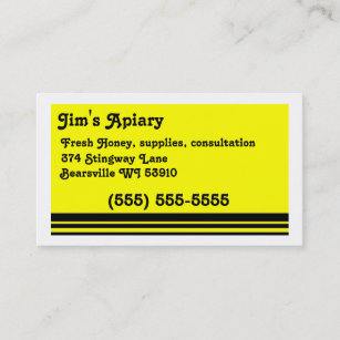 Apiary Business Cards & Profile Cards   Zazzle CA